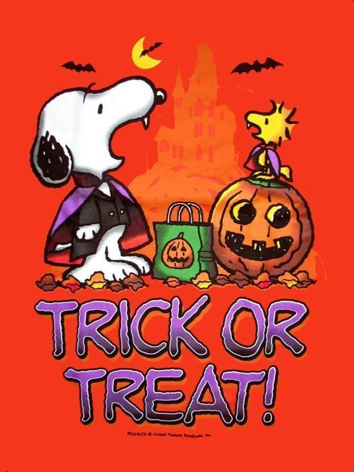 Trick Or Treat! Snoopy And Woodstock Peanuts Halloween IPhone Wallpaper  Background Holiday Halloween Art   Lock Screen