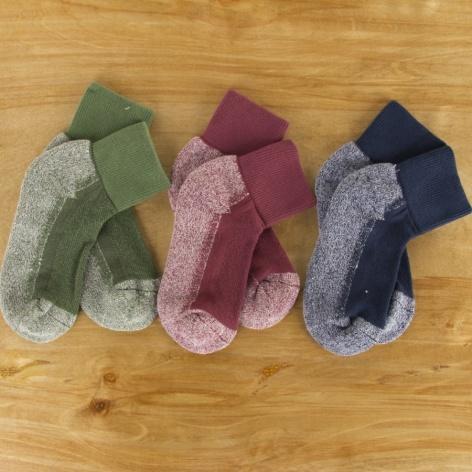Organic Cotton Short Sport Socks Tri-Pak