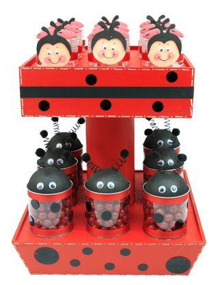 Dulceros originales color rojo para fiestas infantiles
