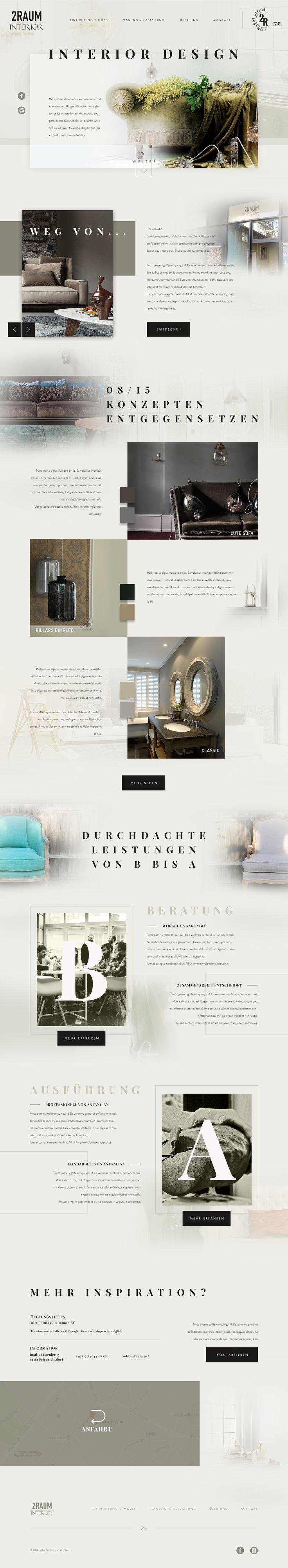 Interior Design Agency UI UX Website Design