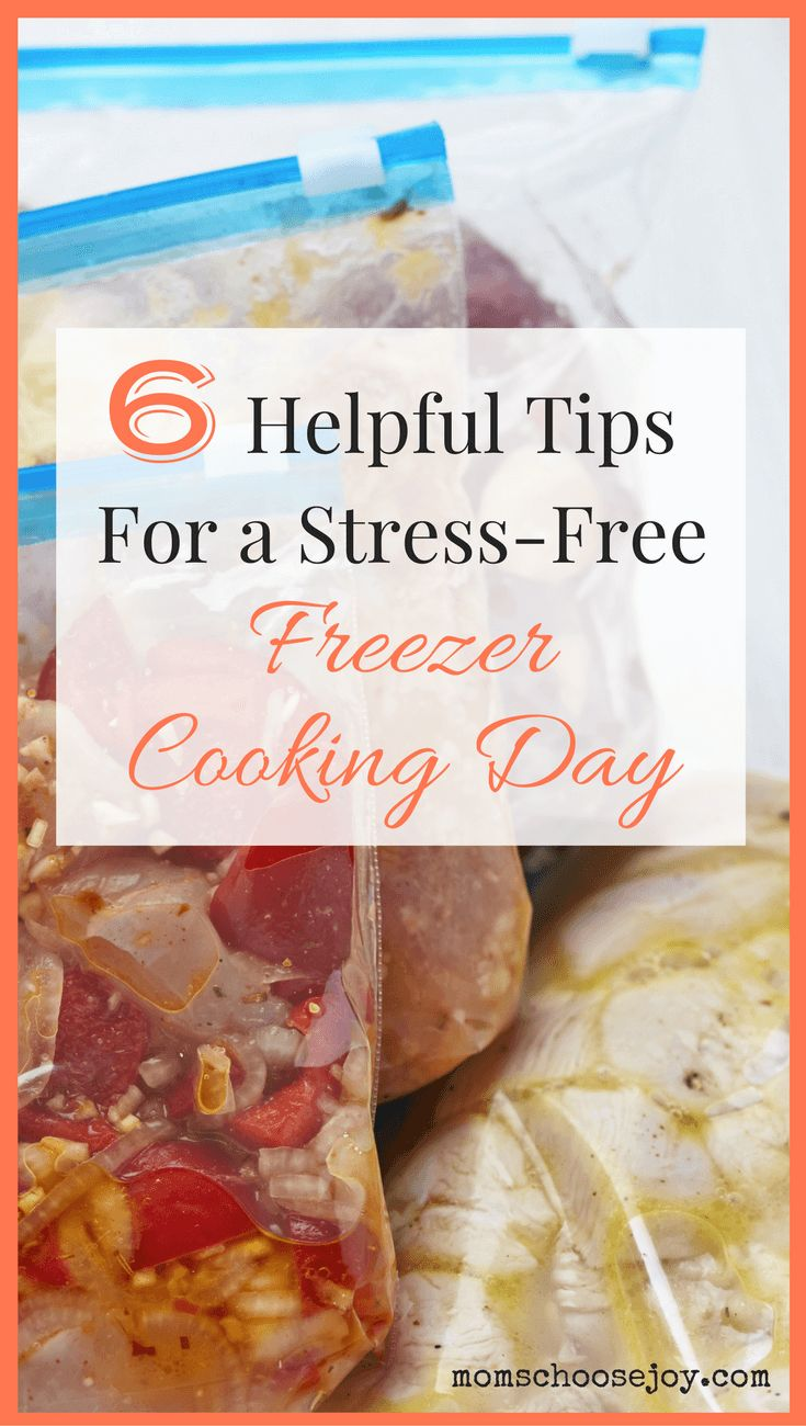 Does the thought of a freezer cooking day intimidate you? Making freezer meals in bulk doesn't have to be stressful. These 6 helpful tips for a stress-free freezer cooking day will show you how to enjoy your freezer meal planning and preparation day!