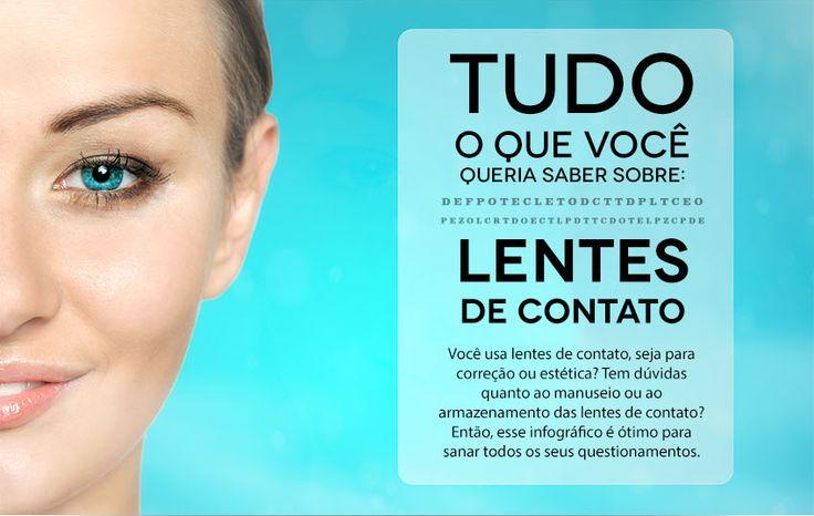Infográfico: Mitos e verdades sobre as lentes de contato