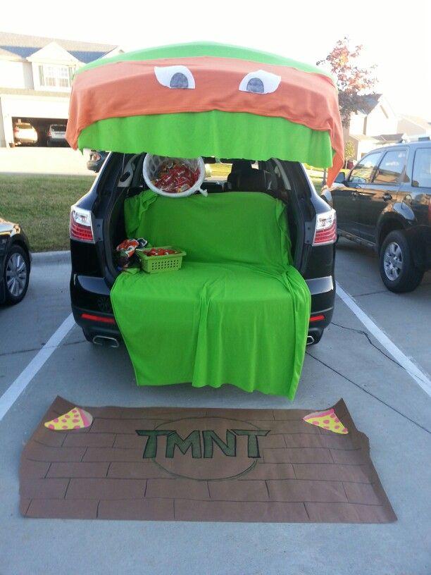 Tmnt trunk or treat #ninjaturtles #myfav #happyhalloween