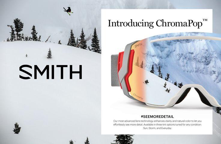 #SEEMOREDETAIL  Smith Optics – Com lentes polarizadas de tecnologia mais avançada que aumentam a clareza e a cor natural, para deixá-lo sem esforço e ver mais detalhes.  Disponíveis em três opções de tons, ajustados para qualquer condição: Sol, Neve e Todo o dia. #Smithoptics #eyewear #TheExperienceIsEverything #premiumopticas #ChromaPop