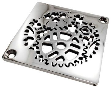 Sprockets Shower Drain - industrial - Showerheads And Body Sprays - Other Metro - Designer Drains