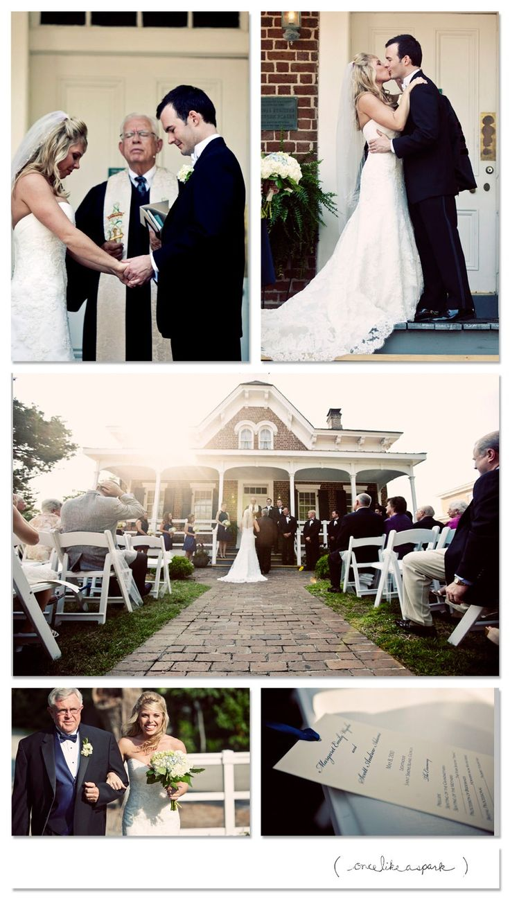 Outdoor Wedding At The Keeper S House St Simons Lighthouse By Once Like A