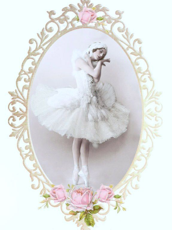 Vintage ballerina Digital collage p1022 Free for personal use <3