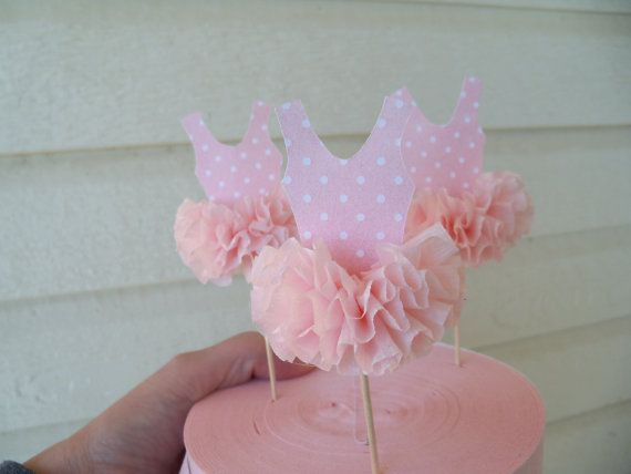 Ballerina tutu Cupcake Toppers for Ballet party or by JeanKnee