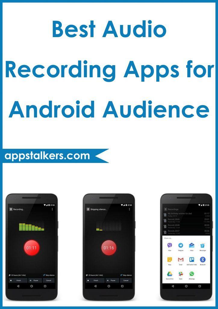 Best Audio Recording Apps For Android Audio Recording Audio