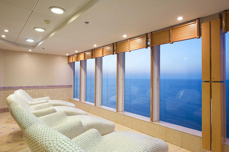 I could sit, relax, read a book, listen to music, chat to a friend or do absolutely nothing - with this view, it doesn't matter! #MSCAureaSpa #MSCCruises #MSCArmonia #relaxation #oceanview