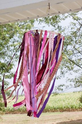 Think Crafts Blog – Craft Ideas and Projects – CreateForLess » Blog Archive » Ribbon Windsock