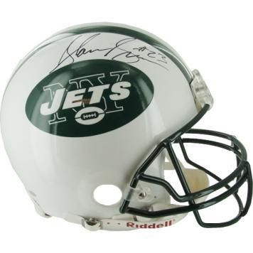 Shonn Greene NY Jets Full Size Helmet - The New York Jets knew what they wanted to do in the 3rd round of the 2009 NFL draft. Thats why they traded third- fourth- and seventh-round picks just to move up and take Shonn Greene a running back from the University of Iowa. What a trade it was. Greene took over the #2 running back roll when Leon Washington got hurt during the season and has been the #1 running back in the postseason rushing for 263 in the first two games. Shonn Greene has hand…