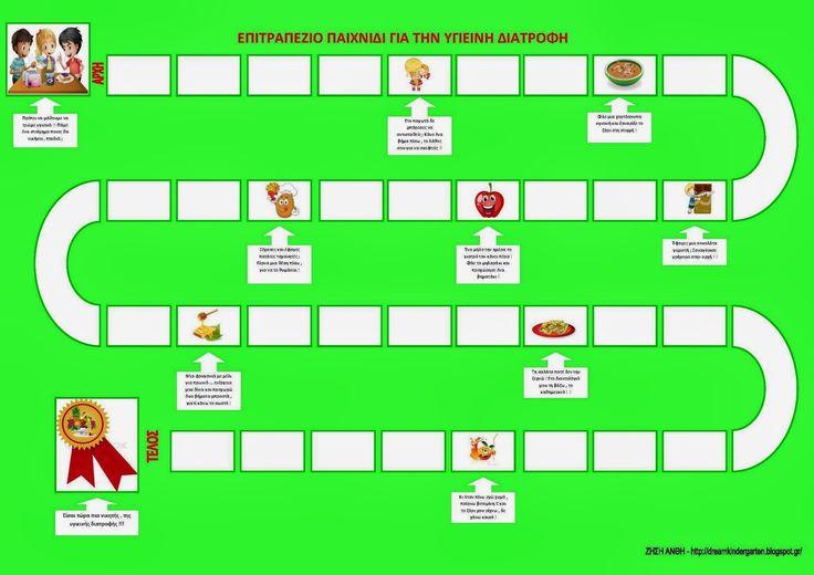 Το νέο νηπιαγωγείο που ονειρεύομαι : Ένα επιτραπέζιο παιχνίδι για την υγιεινή διατροφή