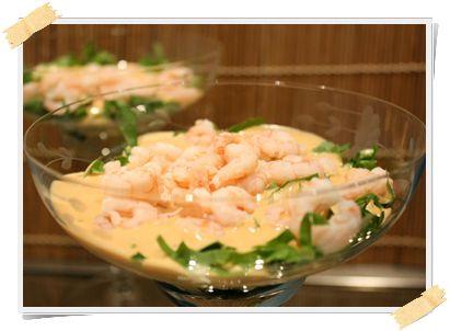 cocktail di gamberetti al curry (crociera) - http://www.lamiadietadukan.com/ricetta-dukan-cocktail-gamberi-curry/  #dukan #dietadukan #ricette