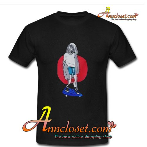 Skate girl T-Shirt from anncloset.com This t-shirt is Made To Order, one by one printed so we can control the quality.