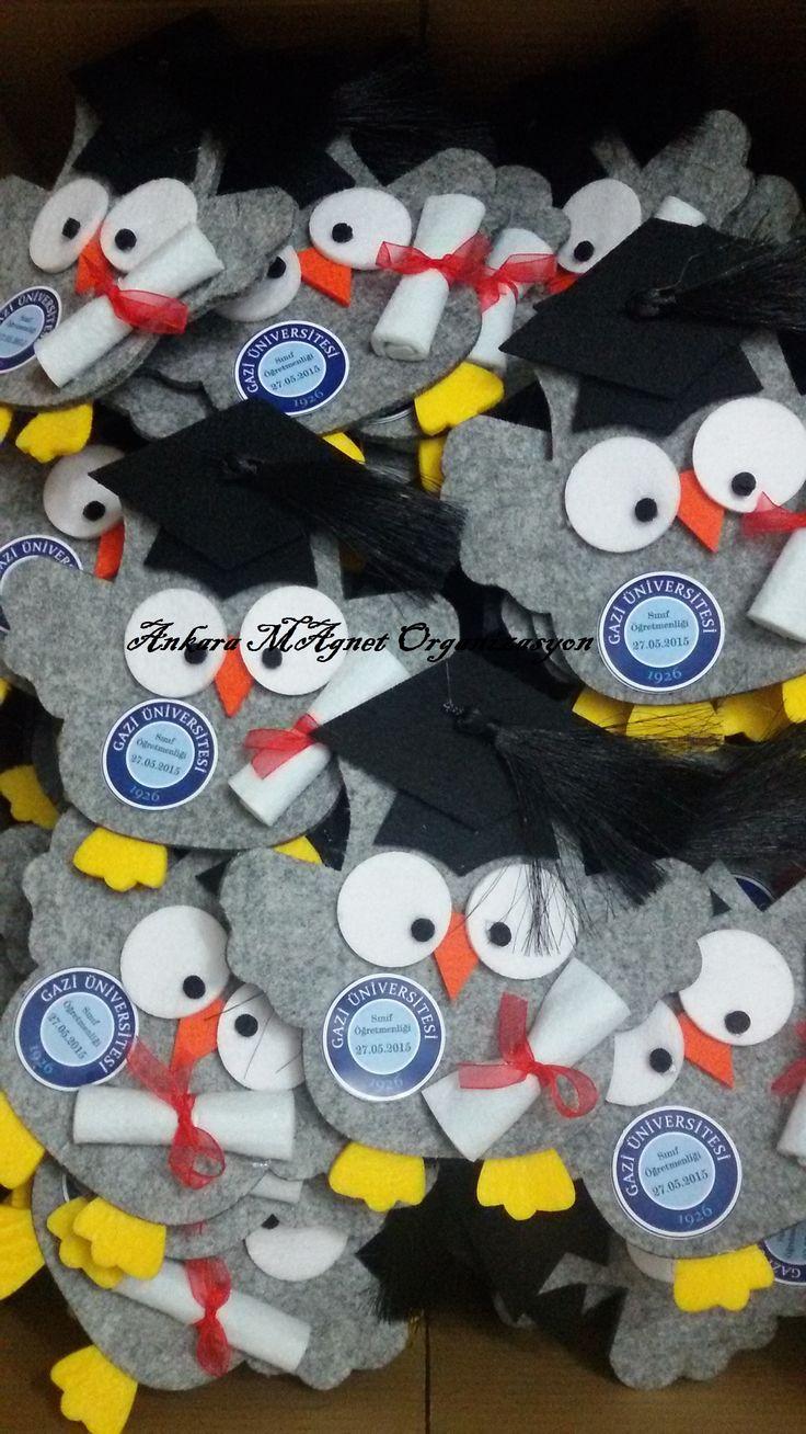 kepli keçeden mezuniyet baykuşları