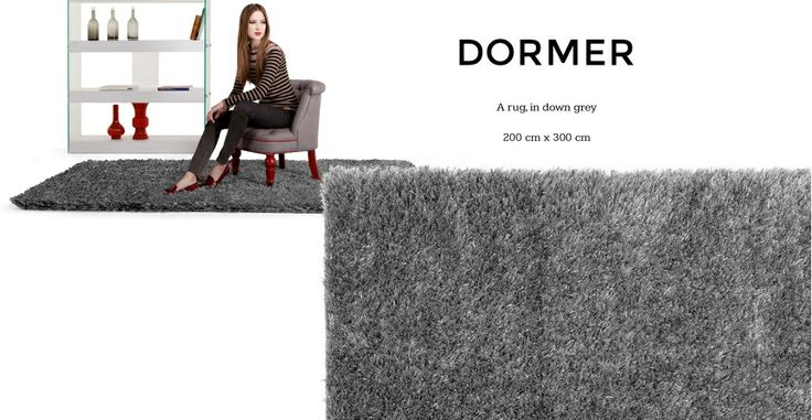 Dormer Rug 200cm x 300cm in down grey   made.com