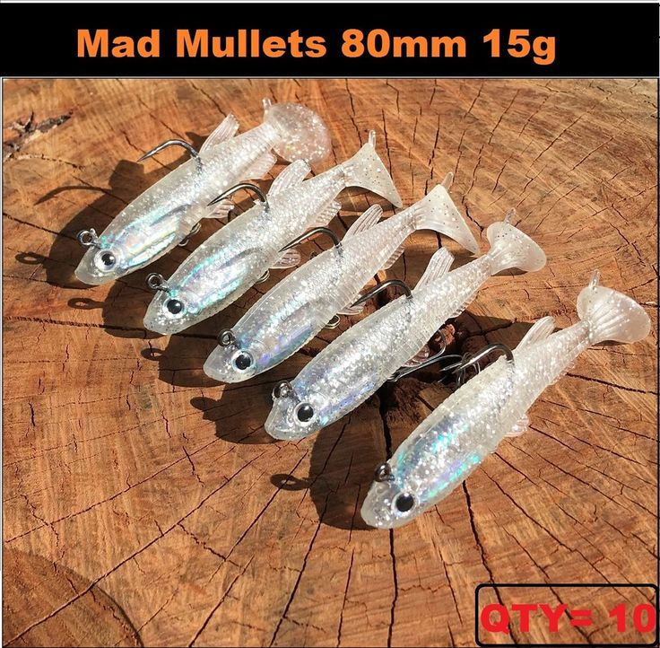 x 10 Vibe lure soft plastic 80mm Mad Mullet paddle tail soft vibe Flathead ! Jew