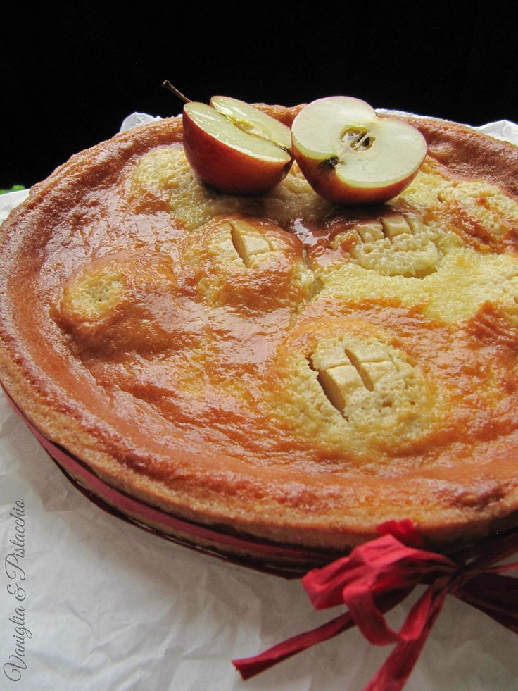 Torta di mele con crema royal