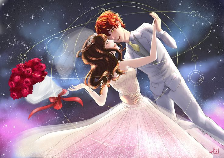 Let's get married in the space station by LeliaArtwork.deviantart.com on @DeviantArt