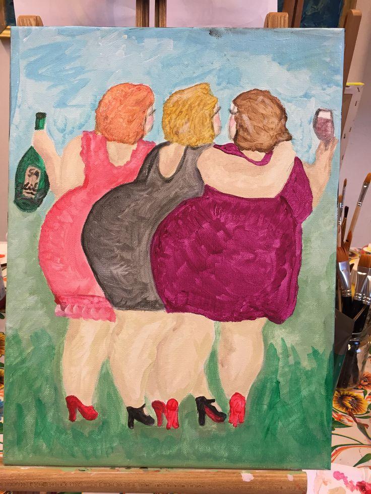 Dit schilderij is gemaakt door een cursist van Irene's Atelier