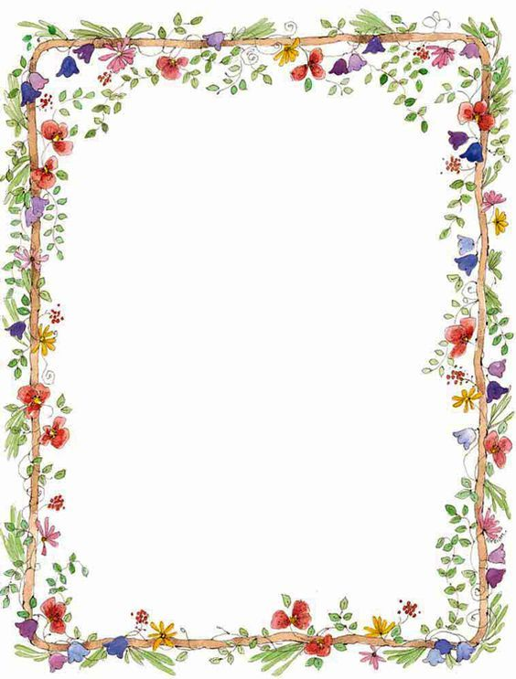 Eloquent image inside watercolor floral border paper printable