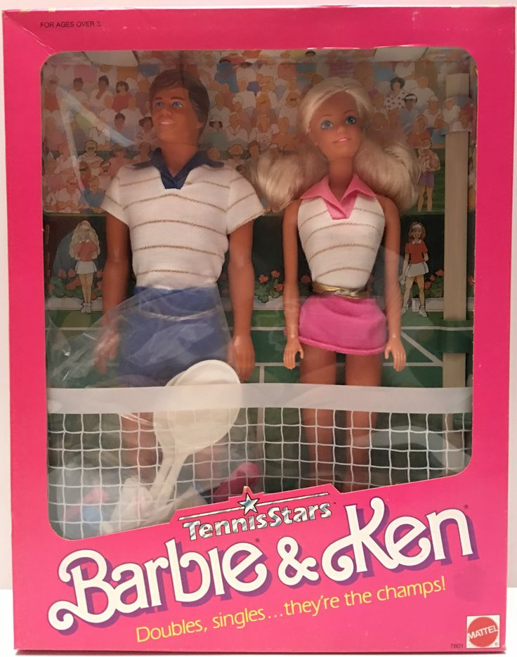(TAS000210) - 1988 Mattel Barbie Tennis Stars Barbie & Ken – The Angry Spider Vintage Toys & Collectibles Store