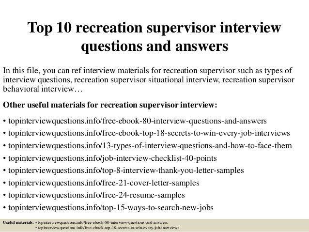 25+ best Supervisor interview questions ideas on Pinterest
