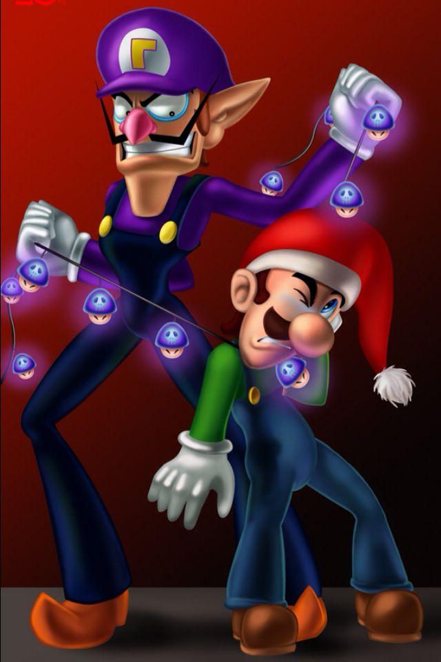 Luigi Merry Christmas Waluigi Shut Up Mario