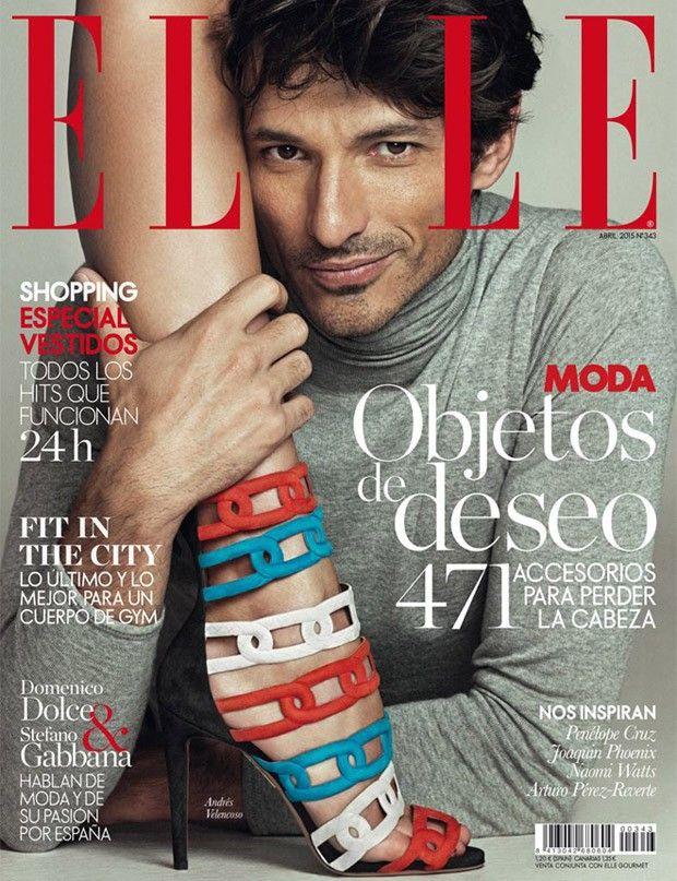 Andres Velencoso Segura Covers Elle Spain April 2015