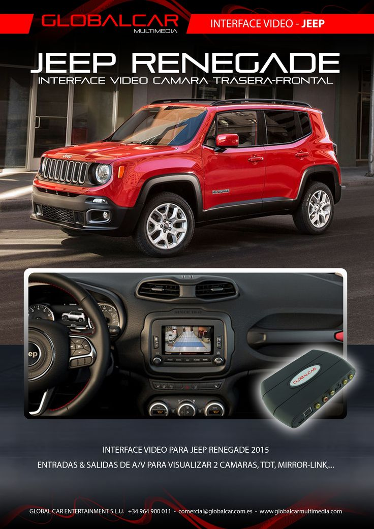Ficha Interface Video Camara Trasera JEEP RENEGADE - http://www.globalcarmultimedia.com/ficha-interface-video-camara-trasera-jeep-renegade