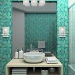 Бирюзовая ванная комната