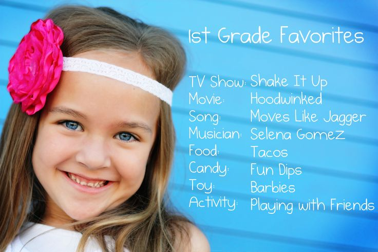 First Grade Favorites!  Do this every year.  Put them in a book for graduation present.