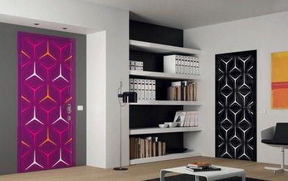 Porte colorate per interni - Porte con telaio a fantasia