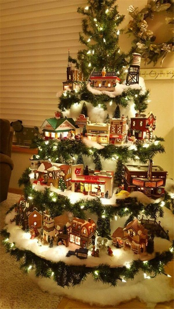 35 New Collection Of Easy Christmas Decorations Creative Christmas Trees Christmas Centerpieces Diy Christmas Tree Village Display