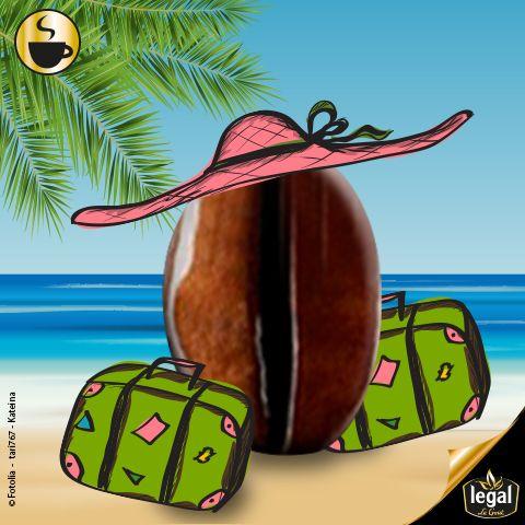 Bientôt les vacances... Vous pensez déjà à la plage et au soleil... nous préparons aussi les vacances! Avec un grain de folie comme toujours...      #Vacances #Plage #Soleil #Grain #Café #Legal #LeGoût #Hmmm   http://www.cafes-legal.fr