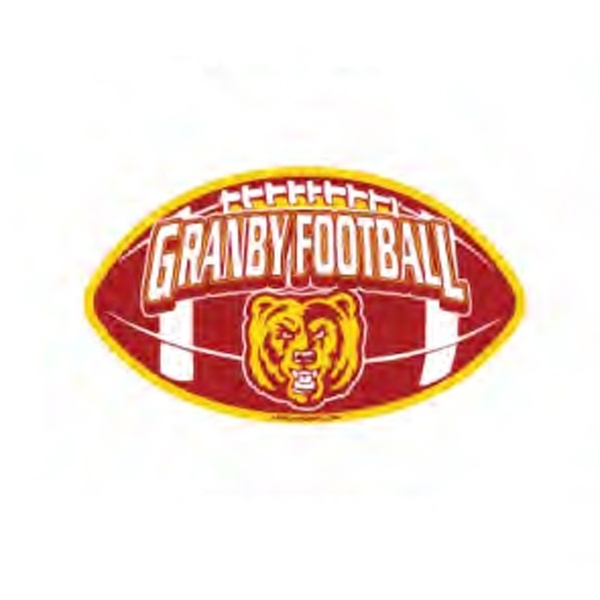 Football  Shaped Car Magnet from www.schoolspiritstore.com