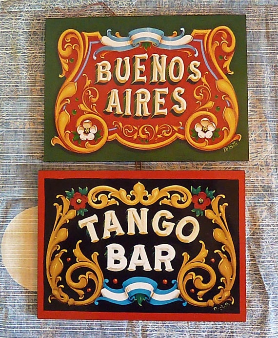 Fileteado Porteño - Signs
