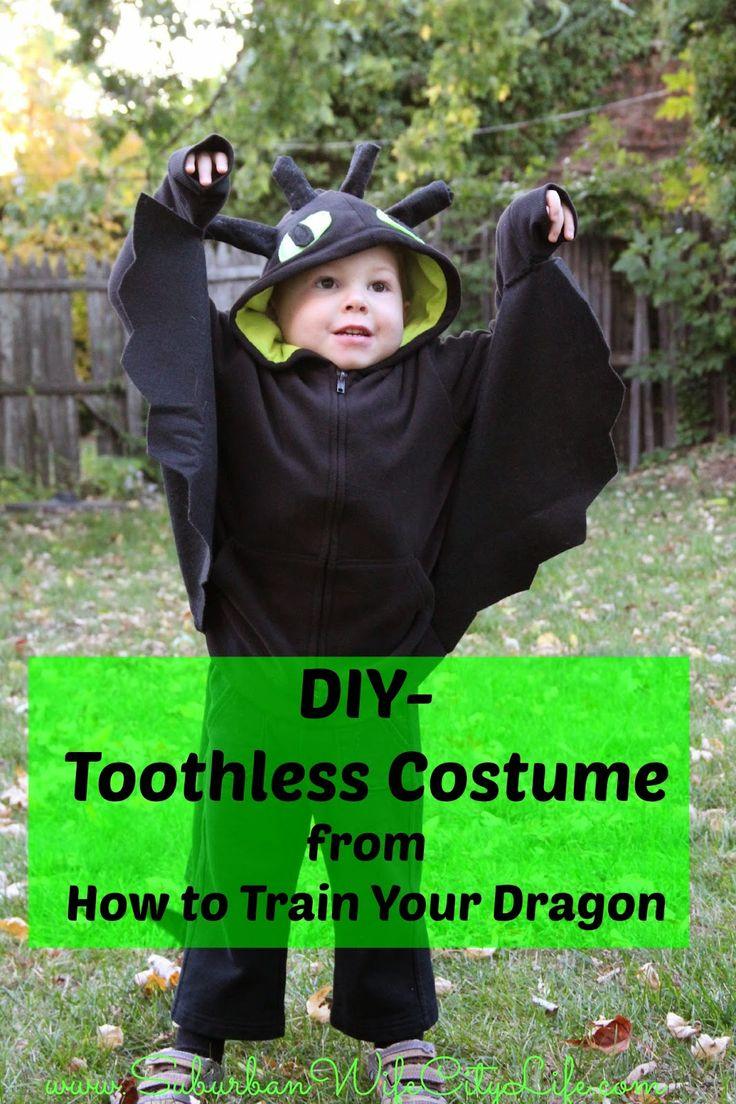 Tutorial um aus Hoodie einen Ohnezahn Drache zu machen - DIY- Toothless Costume from How to Train your Dragon