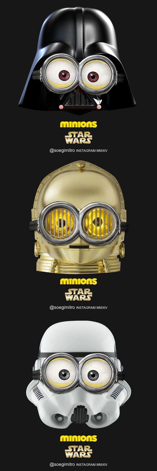 Star Wars Minions. #humor #risa #graciosas #chistosas #divertidas