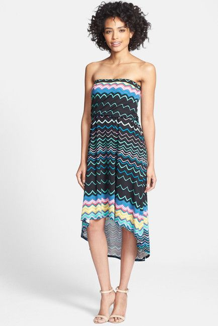 Felicity and Coco FELICITY & COCO Strapless Blouson Jersey Dress (Nordstrom Exclusive)