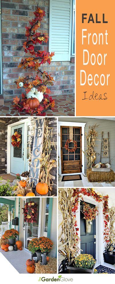 Ideas para decorar la puerta principal de tu casa en otoño.