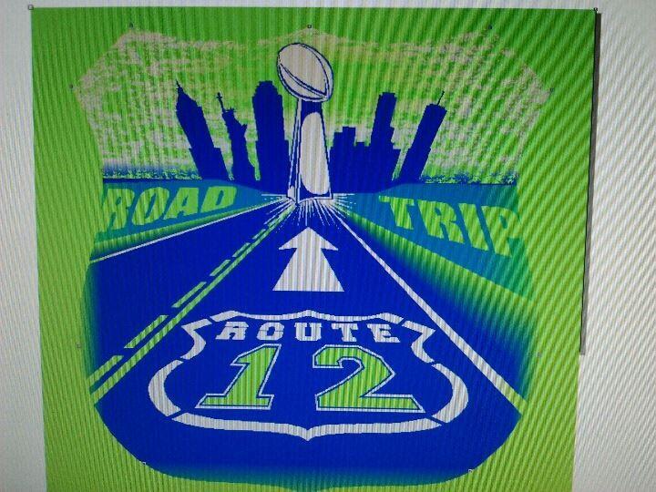 Super Bowl bound T-shirts and sweatshirts at Willies Sport Shop. 360-739-9994