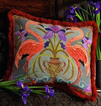 flamingos and swans images | Glorafilia: Swans and Flamingos Tapestry Kits