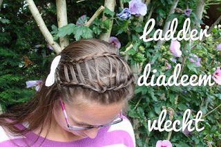 Miriam's Vlecht Lessen (Miriam's braiding instructions): Ladder diadeemvlecht // Ladder headband braid