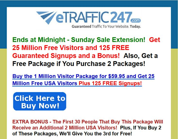 [[[HURRYYY]]] Buy the 1 Million Visitor Package for $59 95 and Get 25 Million Free USA Visitors | 2013 Best selling products online