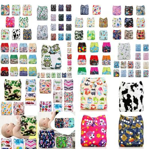 Washable Baby Pocket Nappy Cloth Reusable Diaper Bamboo Diapers Cover Wrap Waterproof Breathable Tpu Hong Kong Multi-colour