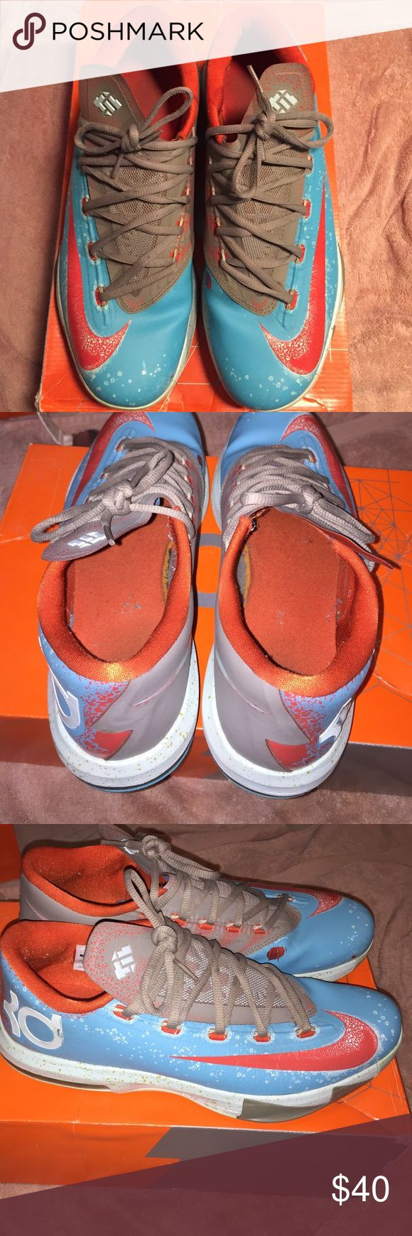 Nike KD VI size 10 Nike KD VI SIZE 10 all flaws are shown. Comes with original box, offers are accepted. Thank you Nike Shoes Sneakers