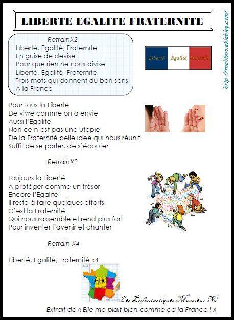 CHANSON: Liberté Egalité Fraternité - Chez Maliluno