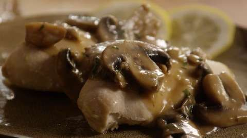 Baked Lemon Chicken with Mushroom Sauce Allrecipes.com
